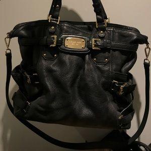 Full-size Black Leather MK Handbag